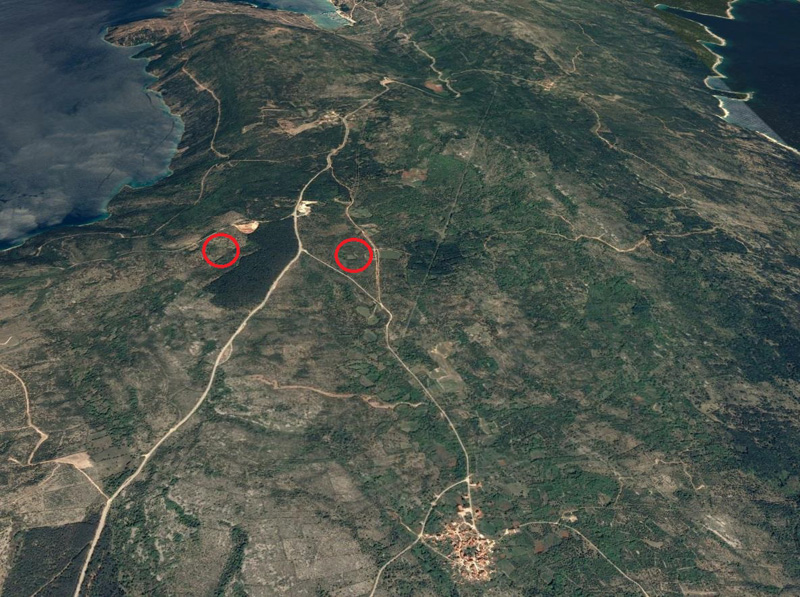 Location of the Orlec-Trinket – WEST Solar Power Plant on the island of Cres
